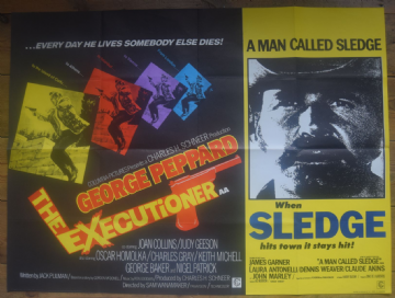 The Executioner | A Man Called Sledge | UK Quad Double Bill Poster